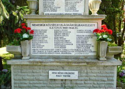 Nemesbük világháborús emlékmű 2014.06.09. küldő- Méri (3)