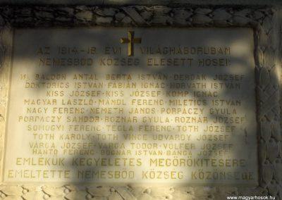 Nemesbőd I.vh emlékmű 2009.01.07.küldő-gyurkusz (1)