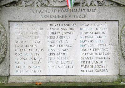 Nemesbikk I.vh emlékmű 2007.11.20. küldő-kalyhas