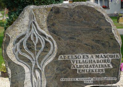 Nemesnép világháborús emlékmű 2009.09.16. küldő-Sümec (2)