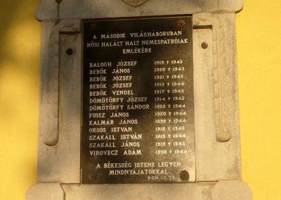Nemespátró világháborús emléktáblák 2014.10.10. küldő-Sümec (13)