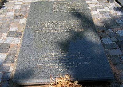 Nyíregyháza Északi temető. Elhurcoltak és hadifoglyok emlékműve. 2017.07.16. küldő-Emese (2)