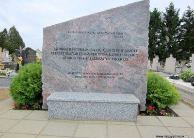 Nyíregyháza - Oros II. világháborús emlékmű 2013.05.23. küldő-kalyhas (1)