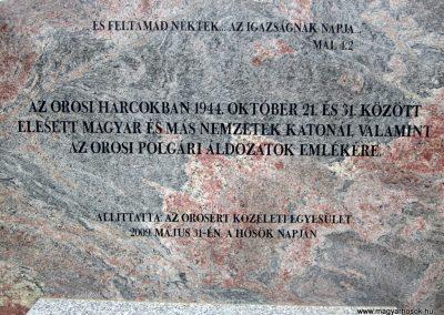 Nyíregyháza - Oros II. világháborús emlékmű 2013.05.23. küldő-kalyhas (2)