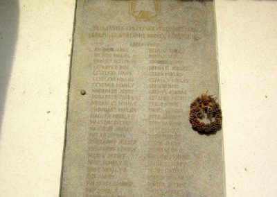 Nyírlugos I. világháborús emléktáblák 2014.02.07. küldő-kalyhas (2)