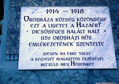 Orosháza - Gyopárosfürdő világháborús emléktábla 2010.04.30. küldő-Szedlák Izabella (1)