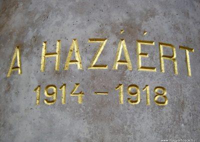Orosháza felújított I. világháborús emlékmű 2014.10.25. küldő-Emese (5)