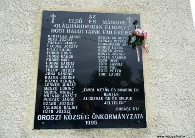 Oroszi világháborús emléktábla 2015.10.05. küldő-Méri (2)
