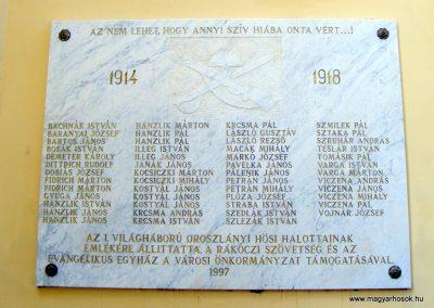 Oroszlány evangélikus templom világháborús emléktáblák 2012.06.17. küldő-Méri (3)