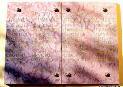 Oroszlány evangélikus templom világháborús emléktáblák 2012.06.17. küldő-Méri (5)