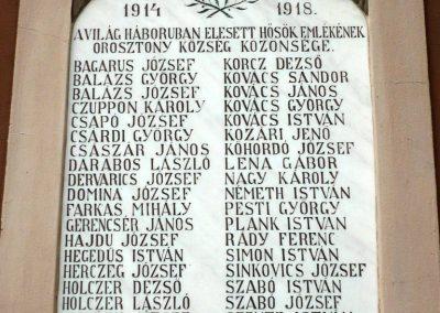 Orosztony I.vh emléktábla 2010.10.04. küldő-Sümec (3)