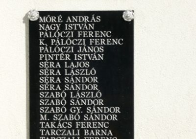 Pácin világháborús emlékmű- felújítás után 2010.07.04. küldő-Ágca (8)