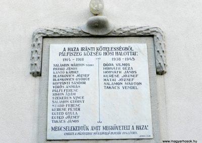 Pálfiszeg világháborús emléktábla 2017.11.19. küldő-Huber Csabáné (1)