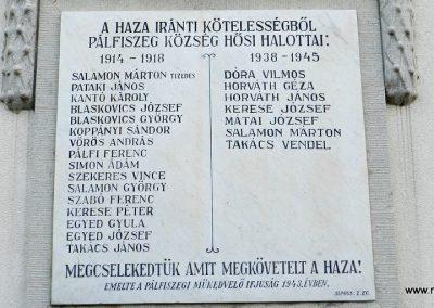 Pálfiszeg világháborús emléktábla 2017.11.19. küldő-Huber Csabáné (2)