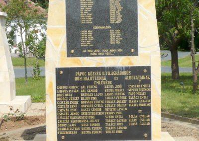 Pápoc felújított és áthelyezett világháborús emlékmű 2012.05.21. küldő-Sümec (4)