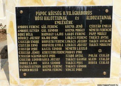 Pápoc felújított és áthelyezett világháborús emlékmű 2012.05.21. küldő-Sümec (8)