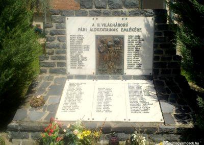 Pári II.vh emlékmű 2012.04.28. küldő-miki