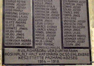 Pázmánd világháborús emléktáblák 2015.01.17. küldő-Méri (5)