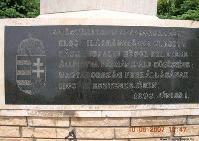 Pázmándfalu Világháborús emlékművek 2007.05.10.küldő-Markó Peti (1)