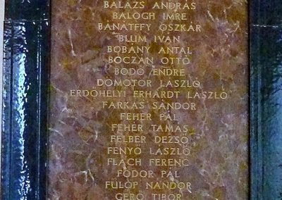 Pécs A Ciszteri rend Nagy Lajos gimnáziuma világháborús emléktáblák 2014.06.14. küldő-Dr. Lázár Gyula Levente (1)