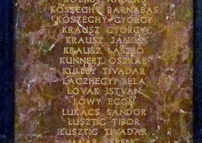Pécs A Ciszteri rend Nagy Lajos gimnáziuma világháborús emléktáblák 2014.06.14. küldő-Dr. Lázár Gyula Levente (2)