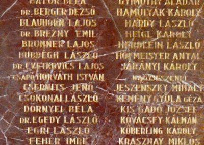 Pécs A Ciszteri rend Nagy Lajos gimnáziuma világháborús emléktáblák 2014.06.14. küldő-Dr. Lázár Gyula Levente (3)