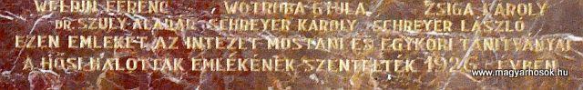 Pécs A Ciszteri rend Nagy Lajos gimnáziuma világháborús emléktáblák 2014.06.14. küldő-Dr. Lázár Gyula Levente (5)