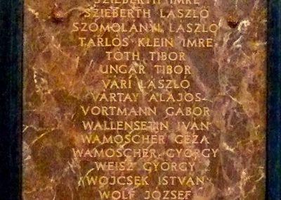 Pécs A Ciszteri rend Nagy Lajos gimnáziuma világháborús emléktáblák 2014.06.14. küldő-Dr. Lázár Gyula Levente (7)