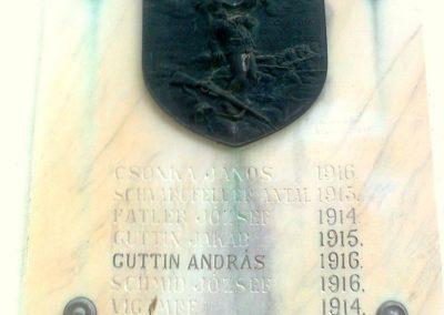 Pécs-Málom I. világháborús emléktábla 2014.10.02. küldő-Turul 68 (1)