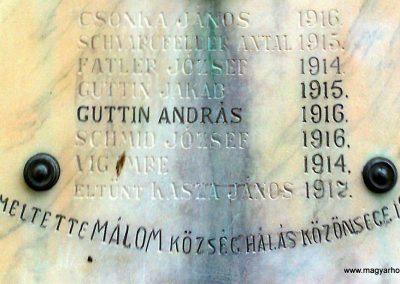 Pécs-Málom I. világháborús emléktábla 2014.10.02. küldő-Turul 68 (3)