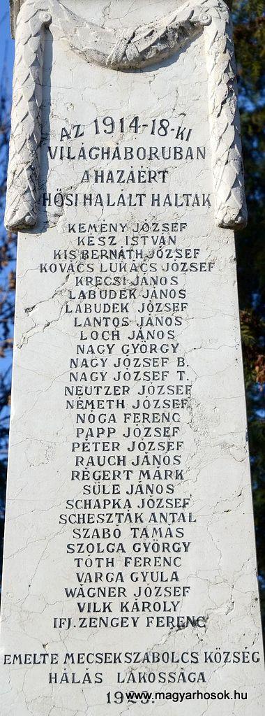 Pécs-Mecsekszabolcs világháborús emlékmű 2015.11.29. küldő-Dr.Lázár Gyula Levente (2)