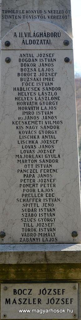 Pécs-Mecsekszabolcs világháborús emlékmű 2015.11.29. küldő-Dr.Lázár Gyula Levente (4)