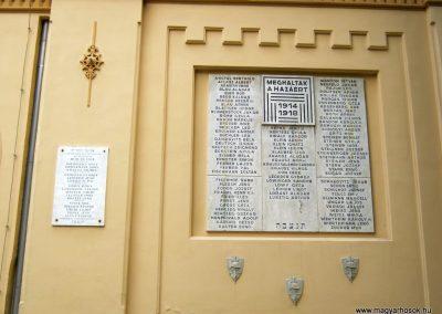 Pécs - zsinagóga - I. világháborús emléktábla 2016.07.15. küldő-Emese (1)