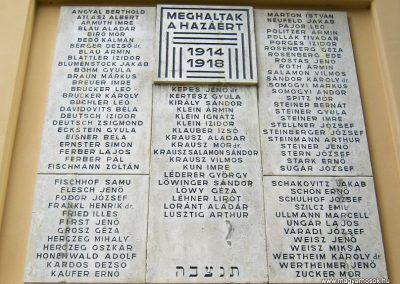 Pécs - zsinagóga - I. világháborús emléktábla 2016.07.15. küldő-Emese (3)