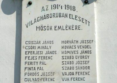 Pamuk I. világháborús emléktábla 2013.04.15. küldő-Sümec (2)