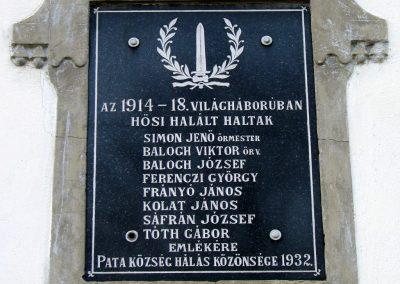 Patapoklosi I.vh emléktábla 2011.03.29. küldő-Temesvári Jenő (1)