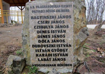 Patvarc II.vh emlékmű 2012.03.08. küldő-kalyhas (2)