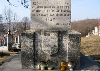 Piliny I.vh emlékmű 2011.03.12. küldő-kalyhas (3)