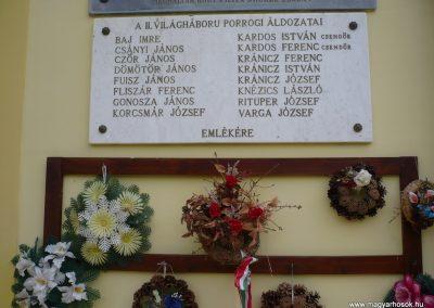 Porrog világháborús emléktáblák 2009.05.12.küldő-Sümec (3)