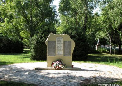 Pozsonyvezekény. Az I. és a II.világháború hõseinek s áldozatainak emlékmûve.