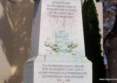 Pusztamonostor világháborús emlékmű 2009.09.14. küldő-miki (2)