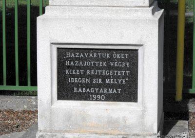Rábagyarmat világháborús emlékművek 2012.05.05. küldő-gyurkusz (8)