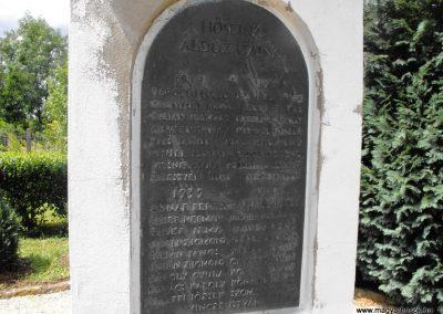 Rábatöttös világháborús emlékmű 2009.07.25.küldő-Papuska (3)