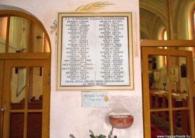 Rábatamási, II. világháborús emléktábla