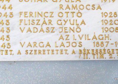 Ramocsa közös II.világháborús emléktábla Kerkafalván 2009.11.17. küldő-Sümec (1)