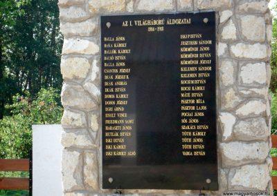 Ricse világháborús emlékmű 2012.06.04. küldő-megtorló (2)