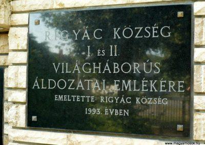 Rigyác világháborús emlékmű 2010.07.14. küldő-Sümec (3)