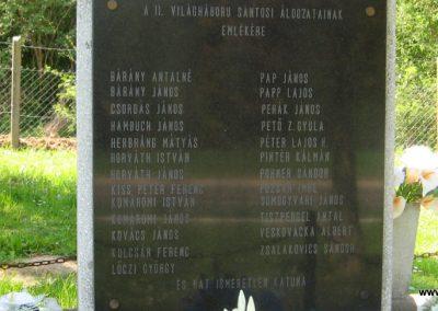 Sántos II.vh emlékmű 2011.04.23. küldő-kalyhas (3)