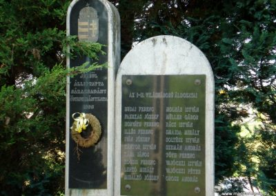 Sárazsadány világháborús emlékmű 2011.05.30. küldő-megtorló (2)