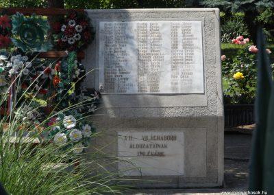 Sárrétudvari I. és II. világháborús emlékmű 2018.05.26. küldő-Bóta Sándor (12)